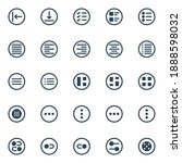 circle glyph icons for ui ux.