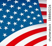 usa flag design  vector... | Shutterstock .eps vector #188860226
