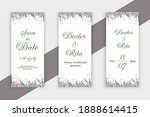 set of vertical wedding banners ...   Shutterstock .eps vector #1888614415