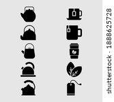 tea and teapot icon set ...   Shutterstock .eps vector #1888625728