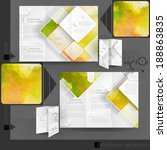 business brochure template... | Shutterstock .eps vector #188863835