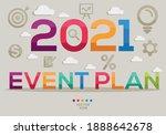 creative  2021 event plan ... | Shutterstock .eps vector #1888642678