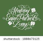 happy saint patrick's day... | Shutterstock .eps vector #1888673125