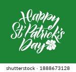 happy saint patrick's day... | Shutterstock .eps vector #1888673128