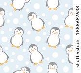 Penguins Seamless Pattern....