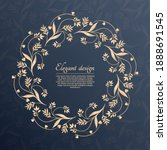 circular foliage pattern. round ... | Shutterstock .eps vector #1888691545