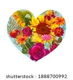 flower s heart. valentine's day ...   Shutterstock .eps vector #1888700992