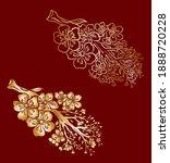 branch of cherry blossom on... | Shutterstock .eps vector #1888720228