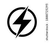 lightning electric icon  bolt...   Shutterstock .eps vector #1888725295