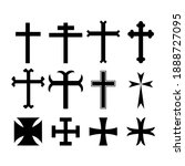 set of christian and catholic...   Shutterstock .eps vector #1888727095