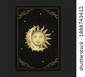 moon and sun. magic occult... | Shutterstock .eps vector #1888743412