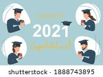 class of 2021 year prepare for...   Shutterstock .eps vector #1888743895