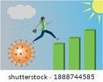 hope after corona pandemic.... | Shutterstock .eps vector #1888744585