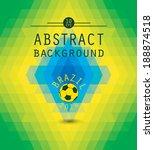 vector geometric background in... | Shutterstock .eps vector #188874518
