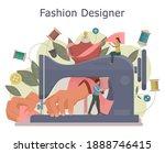 fashion designer concept.... | Shutterstock .eps vector #1888746415