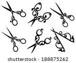 Set Of Retro Scissors.
