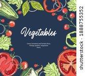 vegetarian food. background... | Shutterstock .eps vector #1888755352