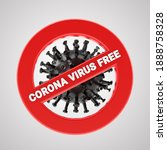 symbol corona virus free  stop... | Shutterstock . vector #1888758328