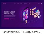 faster order processing concept....   Shutterstock .eps vector #1888765912
