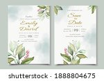 beautiful watercolor floral... | Shutterstock .eps vector #1888804675