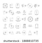 big set of vector isolated... | Shutterstock .eps vector #1888810735