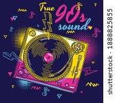 true 90s sound   funky colorful ...   Shutterstock .eps vector #1888825855