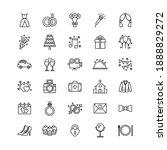 set of wedding icons on white... | Shutterstock .eps vector #1888829272