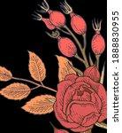 rosehip flowers. background... | Shutterstock .eps vector #1888830955