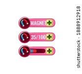 set of funny pink game ui...