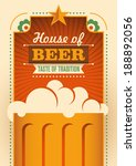 House of beer poster. Vector illustration.