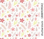 seamless pattern with flowers...   Shutterstock .eps vector #1888939042