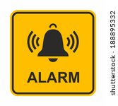 ringing bell icon. alarm sign. | Shutterstock .eps vector #188895332