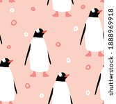 Seamless Pattern With Penguin....
