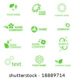 nature symbols  see also images ... | Shutterstock .eps vector #18889714