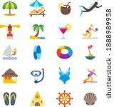 Beach Life Icons Umbrella...
