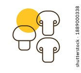 mushroom vector icon. barbecue...