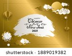 happy chinese new year 2021.... | Shutterstock .eps vector #1889019382