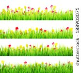 spring meadow with white... | Shutterstock .eps vector #188903075