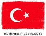 grunge vintage flag of turkey. | Shutterstock .eps vector #1889030758