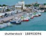 Aerial View Of Sea Port   Tilt...