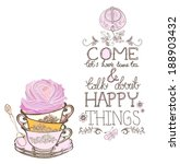 tea time background with text ... | Shutterstock .eps vector #188903432