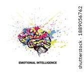 emotional intellect. conceptual ... | Shutterstock .eps vector #1889056762