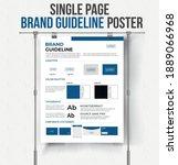 din a3 brand guideline poster... | Shutterstock .eps vector #1889066968