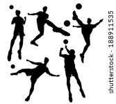 silhouette of soccer football... | Shutterstock .eps vector #188911535