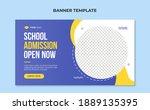 school admission web banner... | Shutterstock .eps vector #1889135395