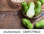 Fresh Chayote Fruits  Sechium...
