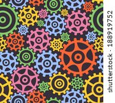 seamless background from gears. ... | Shutterstock .eps vector #188919752