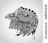 vector tattoo black  hand drawn ... | Shutterstock .eps vector #188920346