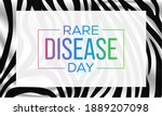 rare disease day is an... | Shutterstock .eps vector #1889207098