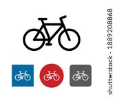 bicycle fitness line art icon...   Shutterstock .eps vector #1889208868